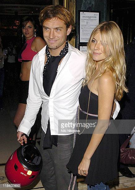 Jude Law and Sienna Miller during Live 8 - London - Official Aftershow Party at Elysium, Cafe Royal in London, United Kingdom.