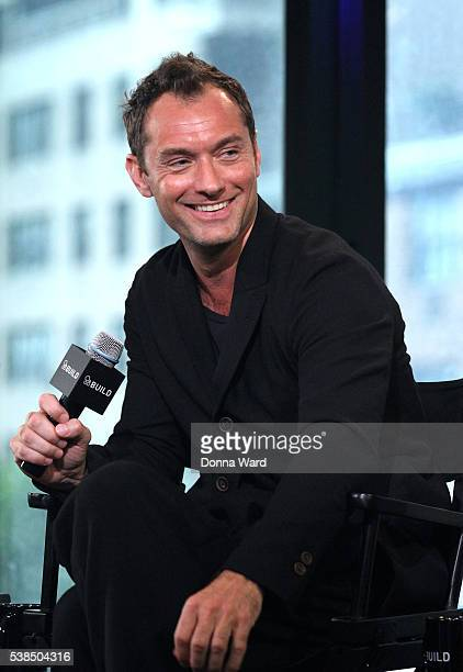 Jude Law appears to promote 'Genius' during the AOL BUILD Seriesat AOL Studios In New York on June 6 2016 in New York City