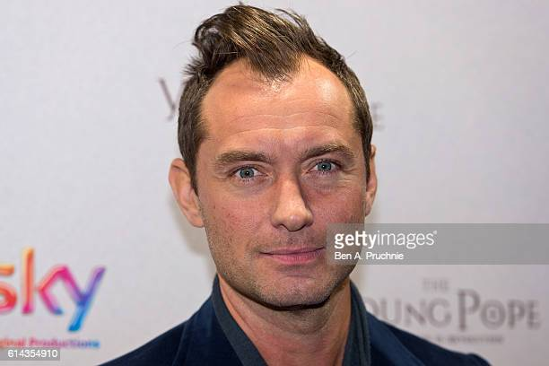 Jude Law attends a photocall ahead of the UK Premiere of Sky Original Production 'The Young Pope' at Corinthia Hotel London on October 13 2016 in...