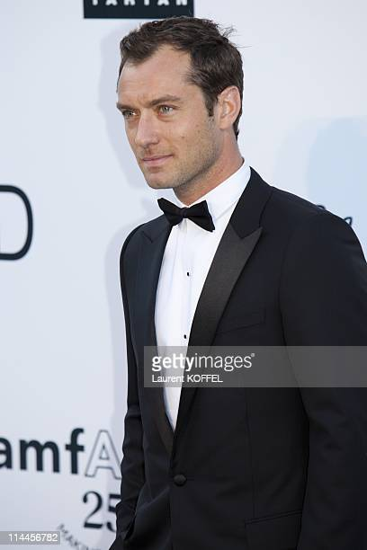 Jude Law attends amfAR's Cinema Against AIDS Gala during the 64th Annual Cannes Film Festival at Hotel Du Cap on May 19 2011 in Antibes France