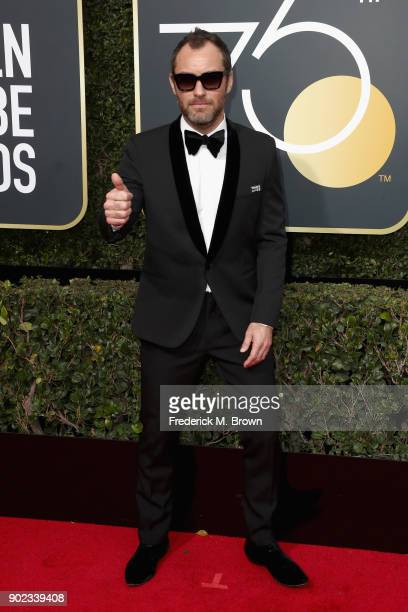 Jude Law attends The 75th Annual Golden Globe Awards at The Beverly Hilton Hotel on January 7 2018 in Beverly Hills California