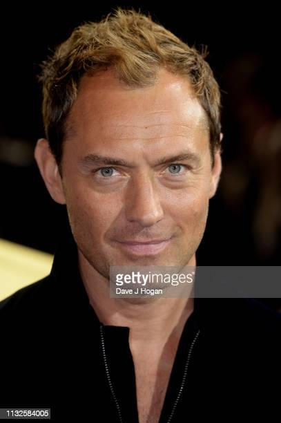Jude Law attends the Captain Marvel European Gala held at The Curzon Mayfair on February 27 2019 in London England