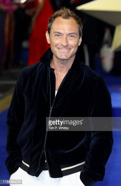 Jude Law attends the Captain Marvel European Gala Premiere held at The Curzon Mayfair on February 27 2019 in London England