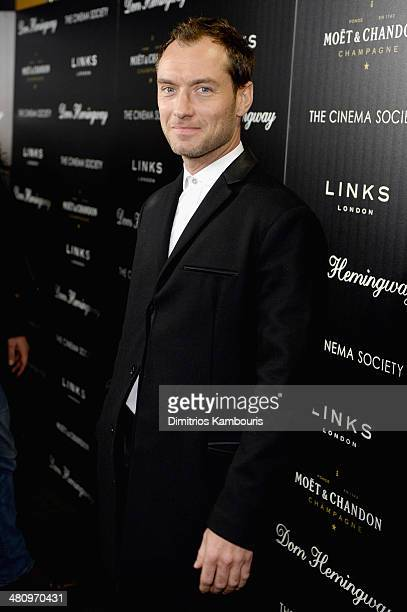 Jude Law attends the Fox Searchlight Pictures' Dom Hemingway screening hosted by The Cinema Society And Links Of London on March 27 2014 in New York...