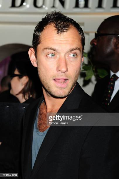Jude Law attends the launch of Home of Alfred Dunhill on September 16 2008 in London England