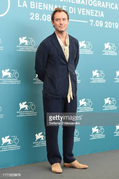 Jude Law attends The New Pope photocall during the 76th Venice Film Festival at Sala Grande on September 01 2019 in Venice Italy