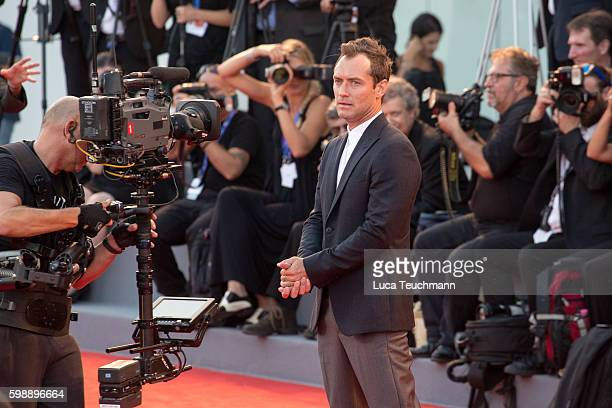 Jude Law attends the premiere of 'The Young Pope' during the 73rd Venice Film Festival at on September 3, 2016 in Venice, Italy.