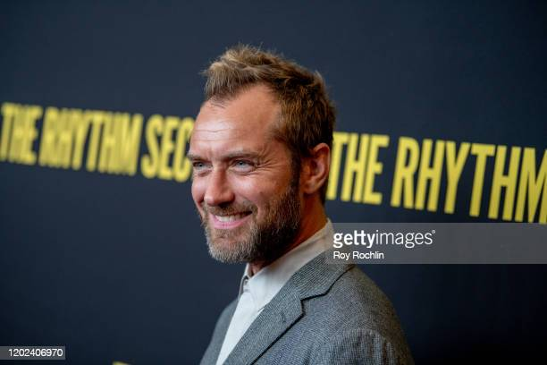 Jude Law attends The Rhythm Section New York Screening at Brooklyn Academy of Music on January 27 2020 in New York City