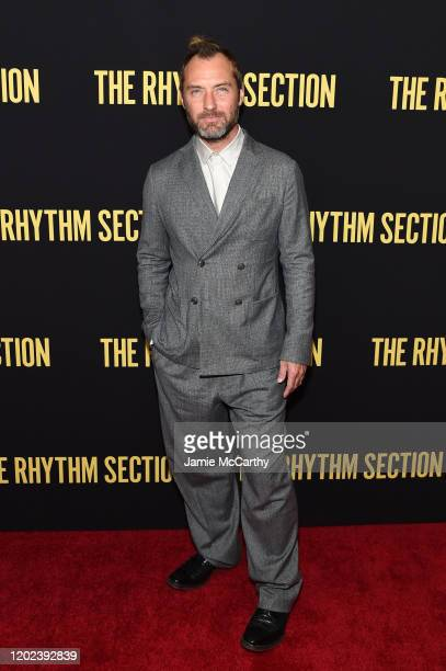Jude Law attends the screening of The Rhythm Section at Brooklyn Academy of Music on January 27 2020 in New York City