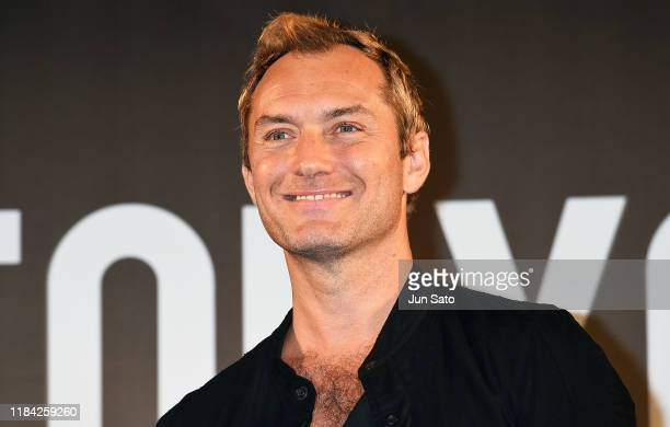 Jude Law attends the talk event during the Tokyo Comic Con 2019 at Makuhari Messe on November 24 2019 in Chiba Japan