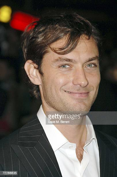 Jude Law attends the Times BFI 50th London Film Festival 'Breaking Entering' premiere at the West End Odeon on October 27 2006 in London England