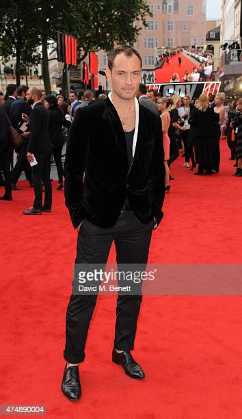 Jude Law attends the UK Premiere of 'Spy' at Odeon Leicester Square on May 27 2015 in London England