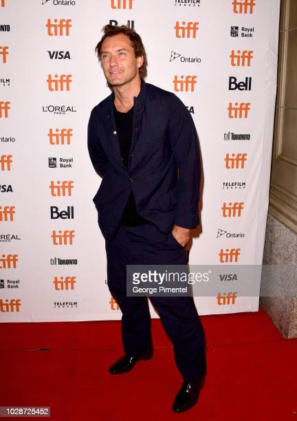 Jude Law attends the Vox Lux premiere during 2018 Toronto International Film Festival at The Elgin on September 7 2018 in Toronto Canada