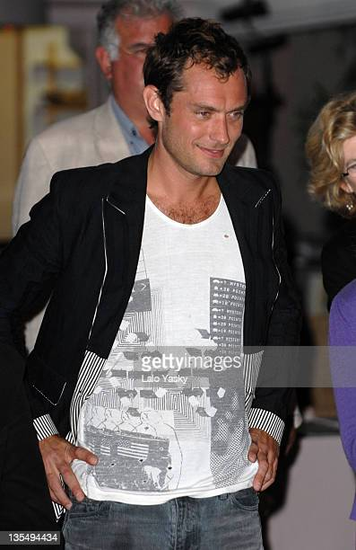 Jude Law during 2007 Cannes Film Festival - In the Hands of Gods Nike Party at Century Club in Cannes, France.