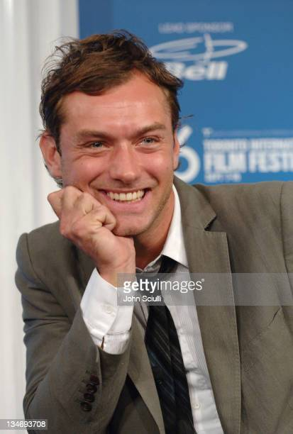 Jude Law during 31st Annual Toronto International Film Festival 'Breaking and Entering' Press Conference at Sutton Place in Toronto Ontario Canada