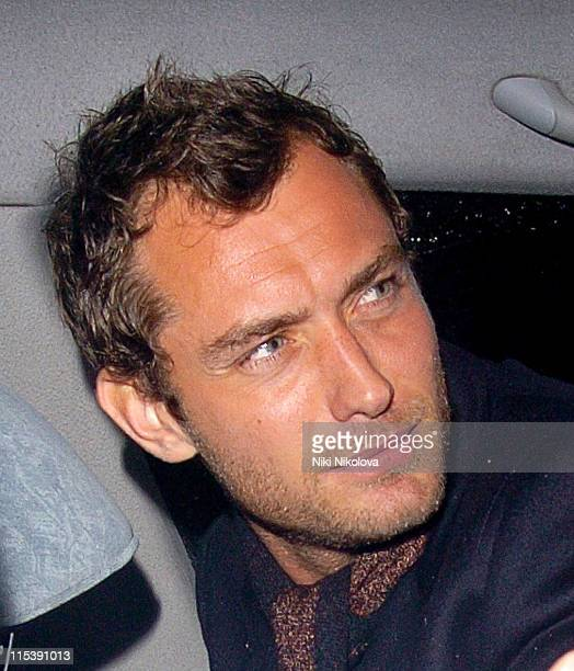 Jude Law during Jude Law Sighting at The Groucho Club in London October 24 2005 at The Groucho Club in London Great Britain