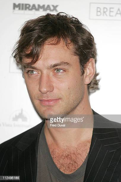 Jude Law during The Times BFI 50th London Film Festival Breaking and Entering Photocall at Dorchester Hotel in London Great Britain