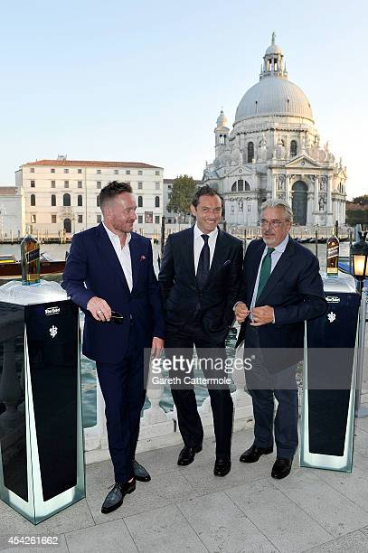 Jude Law Giancarlo Giannini and Jake Scott arrive at the Westin Europa Regina Venice for the JOHNNIE WALKER BLUE LABEL drinks reception to celebrate...