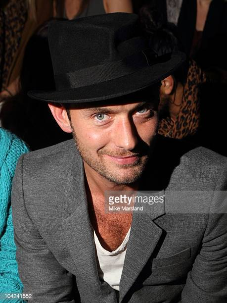 Jude Law in the front row of Twenty8Twelve S/S 2011 show at London Fashion Week at Old Sorting Office on September 18 2010 in London England