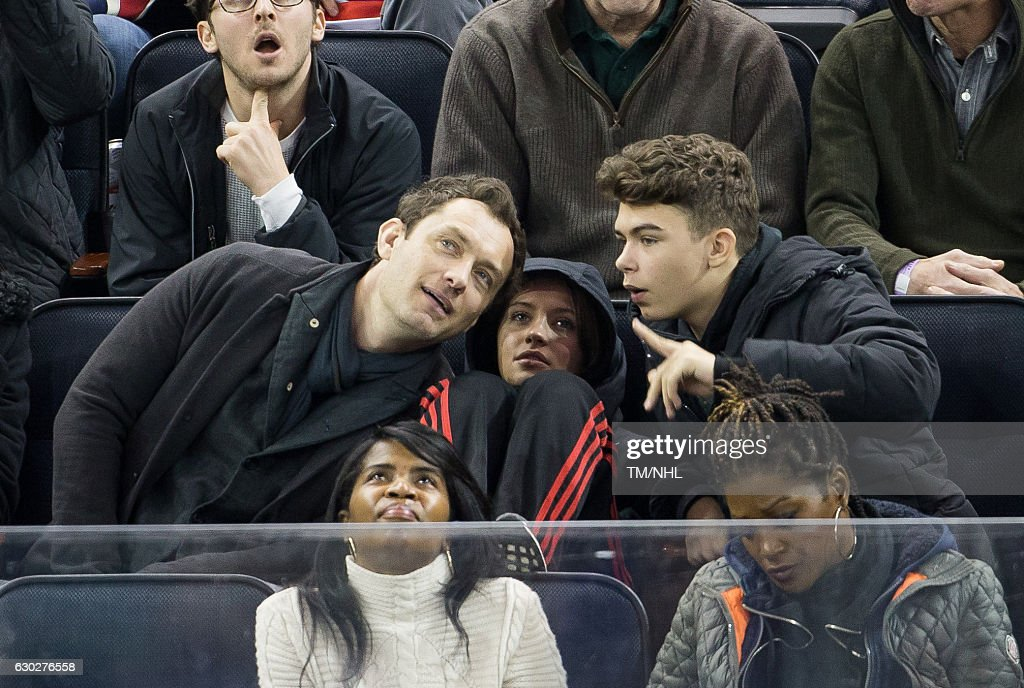 Celebrities Attend New Jersey Devils Vs. New York Rangers - December 18, 2016