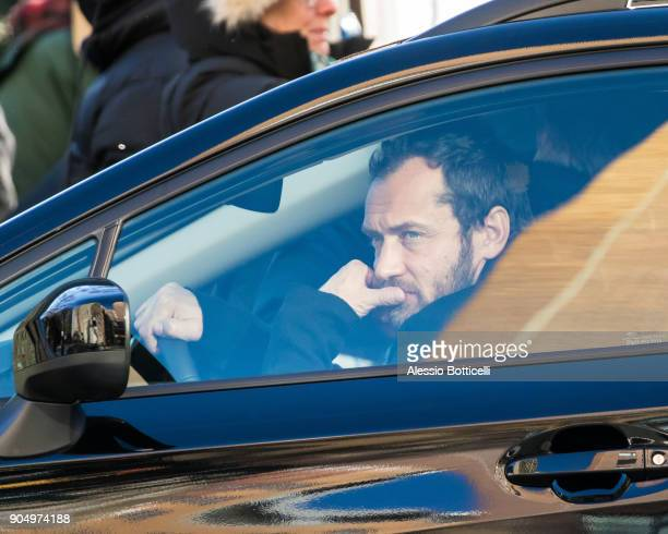 Jude Law is seen filming 'The Rhythm Section' on January 14 2018 in New York New York
