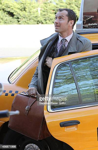 Jude Law is seen on movie set of 'Side Effects' on April 19 2012 in New York City