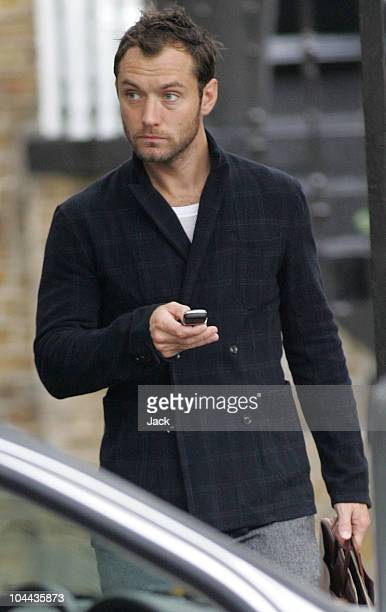 Jude Law leaving his home in Maida Vale on September 24 2010 in London England