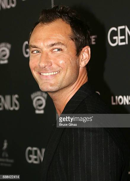 Jude Law poses at the New York Premiere of 'Genius' at The Museum of Modern Art on June 5 2016 in New York City