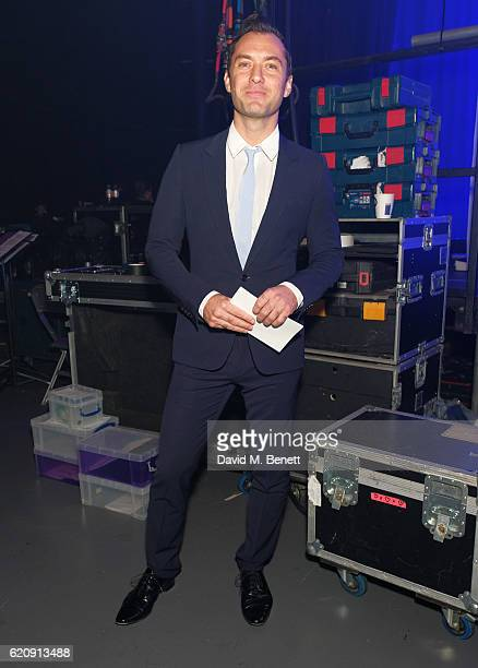 Jude Law poses backstage at the SeriousFun London Gala 2016 at The Roundhouse on November 3 2016 in London England
