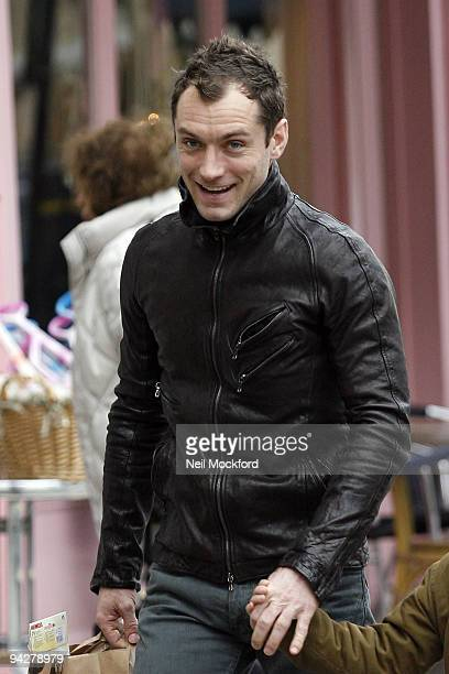 Jude Law shopping in Primrose Hill on December 11 2009 in London England