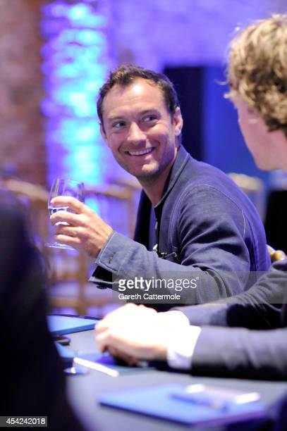Jude Law showcases the JOHNNIE WALKER BLUE LABEL short film The Gentleman's Wager at the Cipriani Hotel during Venice Film Festival on August 27 2014...
