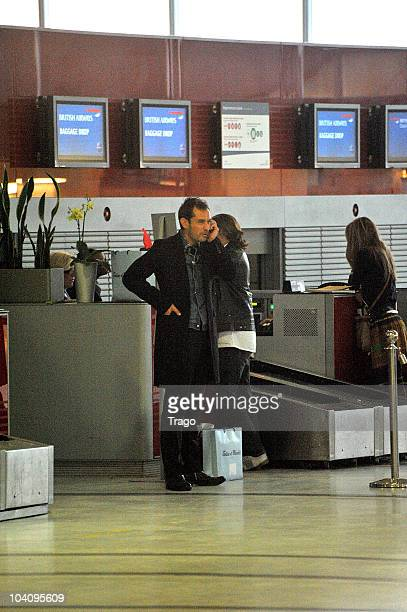 Jude Law sighting at The Roissy Charles de Gaulle Airport on September 14 2010 in Paris France