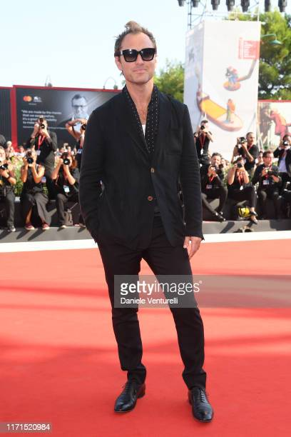 """Jude Law walks the red carpet ahead of """"The New Pope"""" screening during the 76th Venice Film Festival at Sala Grande on September 01, 2019 in Venice,..."""