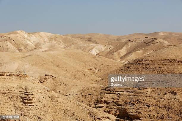 Judean Desert Greek Orthodox St George of Koziba Monastery on the slope of Wadi Qelt