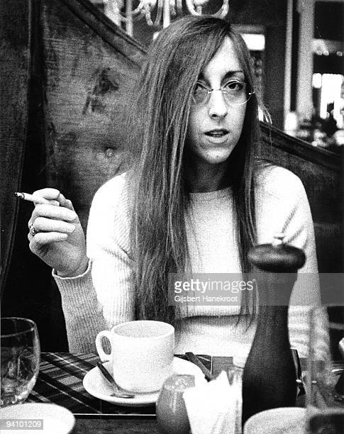 Judee Sill posed in London in 1972 on tour to promote her 2nd Album Heart Food