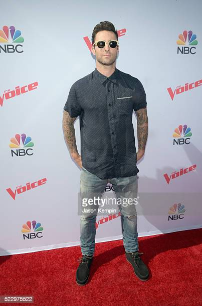 Judge Adam Levine attends 'The Voice' Karaoke For Charity at HYDE Sunset Kitchen Cocktails on April 21 2016 in West Hollywood California