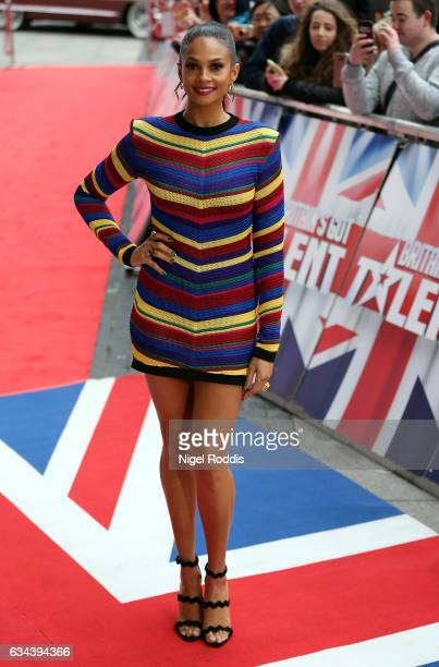 Judge Alesha Dixon arrives for the Britain's Got Talent Manchester auditions on February 9 2017 in Manchester United Kingdom