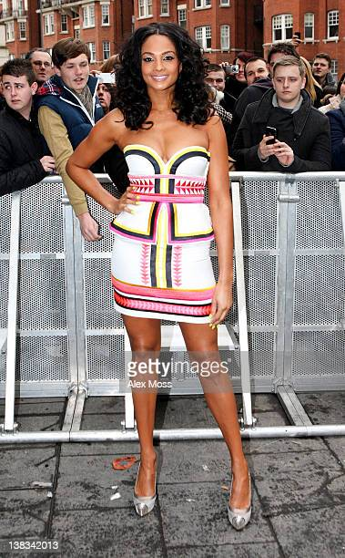 Judge Alesha Dixon attends the Britain's Got Talent London auditions at HMV Hammersmith Apollo on February 6, 2012 in London, England.