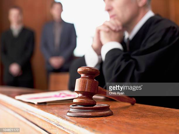 judge and gavel in courtroom - judge law stock pictures, royalty-free photos & images