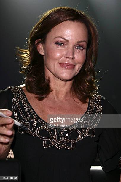 """Judge Belinda Carlisle during the live taping of the premiere episode of """"Rock the Cradle"""" on April 3, 2008 at CBS Studio Center in Studio City,..."""