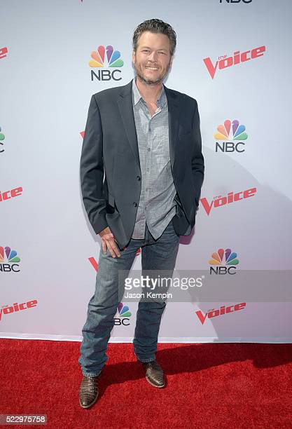 Judge Blake Shelton attends 'The Voice' Karaoke For Charity at HYDE Sunset Kitchen Cocktails on April 21 2016 in West Hollywood California