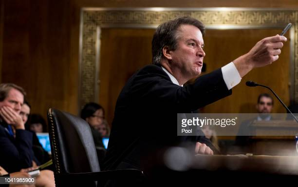 Judge Brett Kavanaugh testifies during the Senate Judiciary Committee hearing on his nomination be an associate justice of the Supreme Court of the...