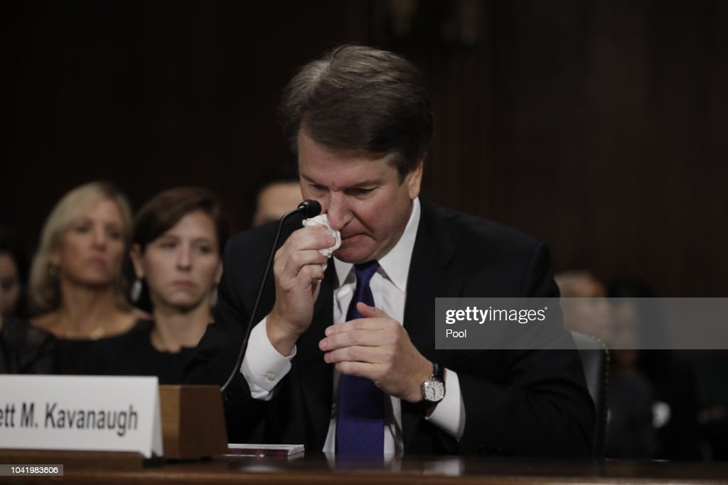Dr. Christine Blasey Ford And Supreme Court Nominee Brett Kavanaugh Testify To Senate Judiciary Committee : News Photo