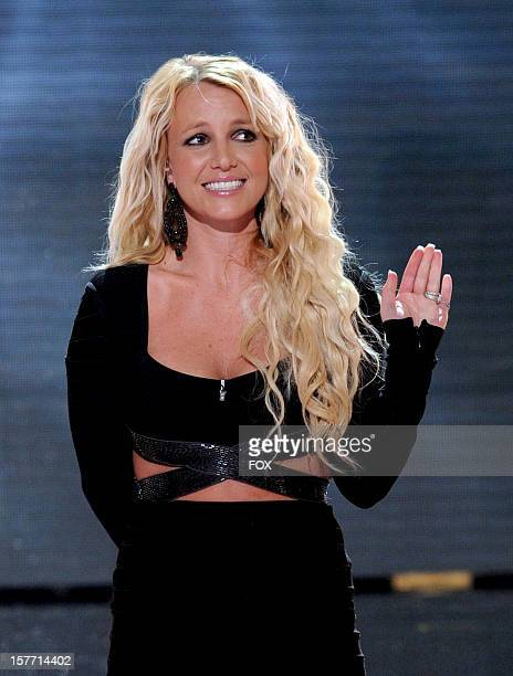 """Judge Britney Spears onstage at FOX's """"The X Factor"""" Season 2 Top 6 Live Performance Show on December 5, 2012 in Hollywood, California."""