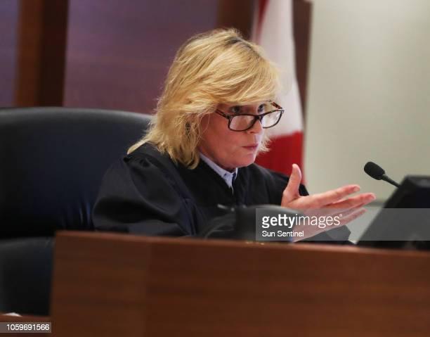 Judge Carol-Lisa Phillips presides over an emergency hearing between the National Republican Senatorial Committee, Rick Scott for Senate and Broward...