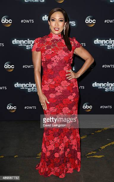 DWTS judge Carrie Ann Inaba attends Dancing with the Stars Season 21 at CBS Televison City on September 22 2015 in Los Angeles California