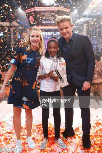 Judge Christina Tosi contestant Jasmine and host / judge Gordon Ramsay in the allnew twohour Junior Edition The Semi Finals/Junior Edition Finale...