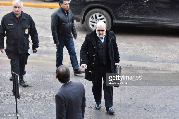 Judge Claudio Bonadio arrives at Comodoro Py Courthouse on August 13 2018 in Buenos Aires Argentina Judge Claudio Bonadio summoned former Argentinian...