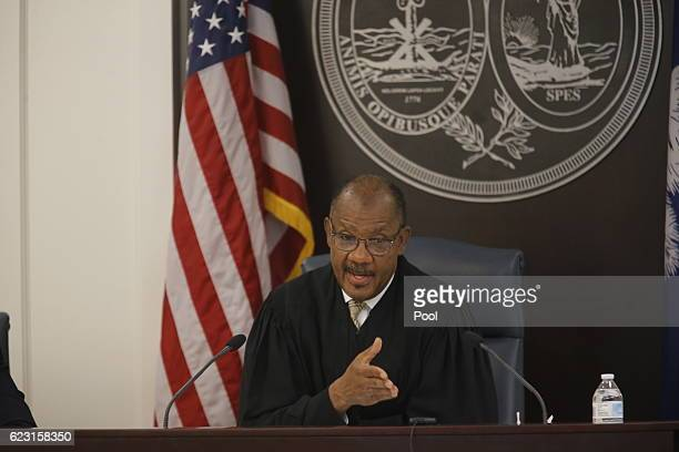 Judge Clifton Newman speaks during the trial of former North Charleston police officer Michael Slager in Charleston County Court November 14, 2016 in...