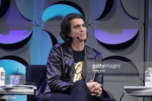 Judge, Co-founder and CEO of WeWork, Adam Neumann appears on stage as WeWork presents Creator Awards Global Finals at the Theater At Madison Square...
